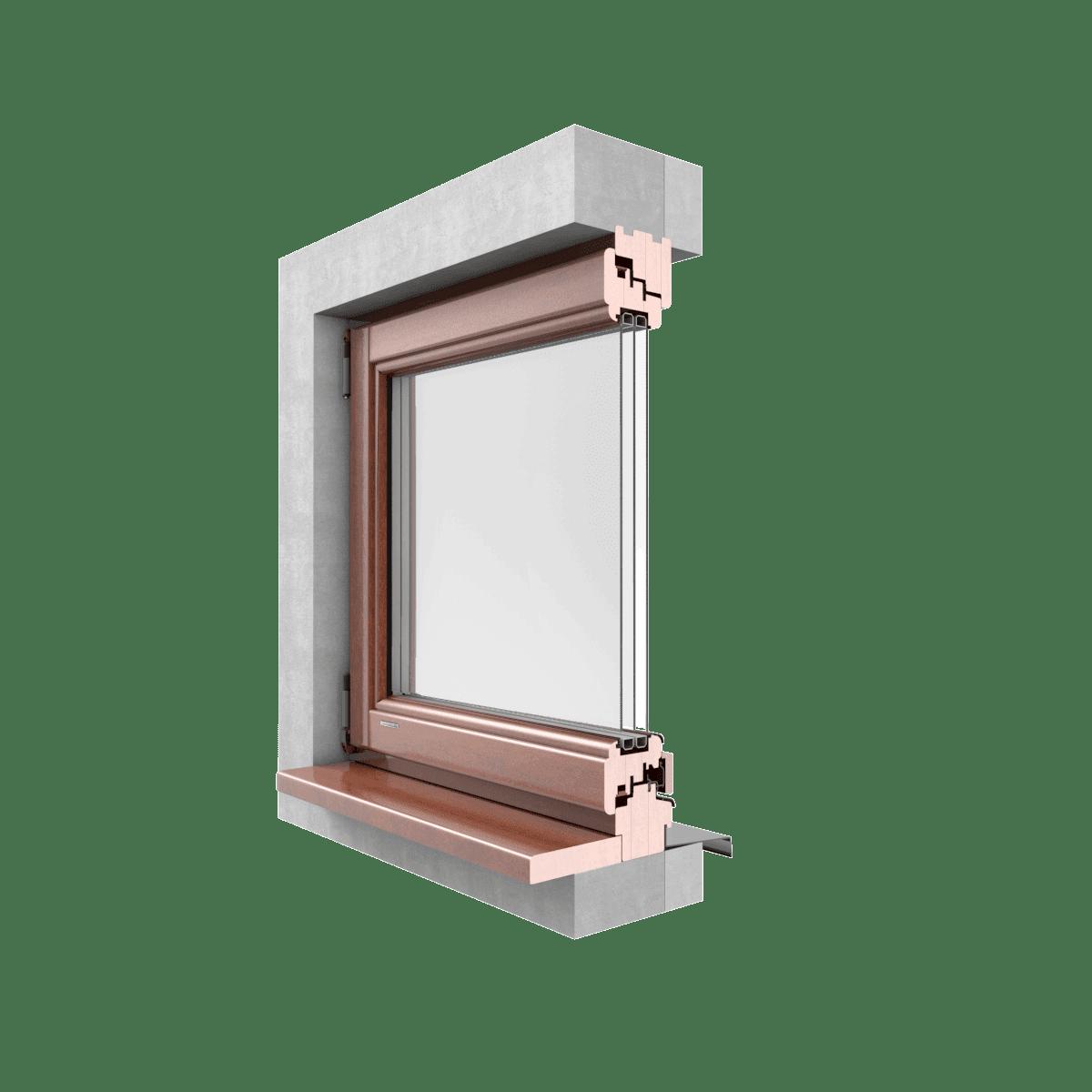GALUX Okna drewniane  SOFTLINE przekrój