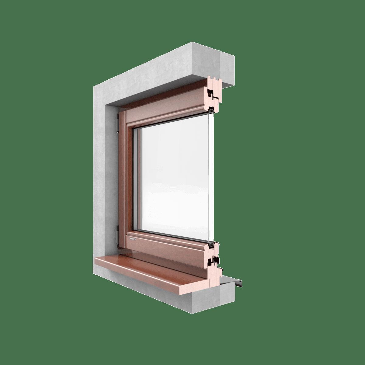 LEXO Okna drewniane CLASSIC przekrój