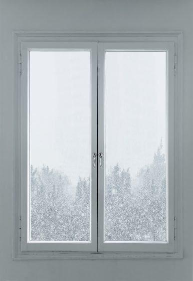 okna zimą