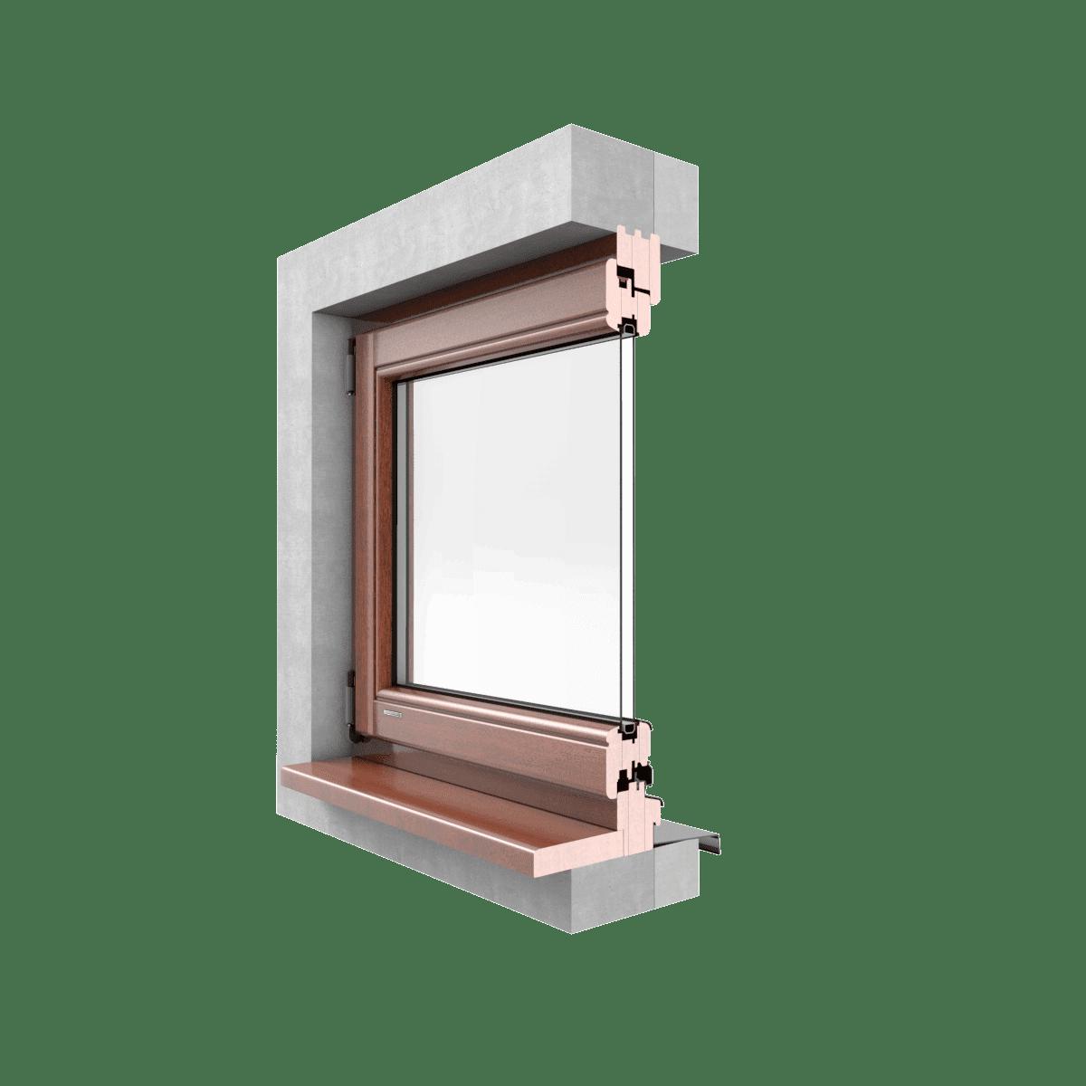 LEXO Okna drewniane  SOFTLINE przekrój