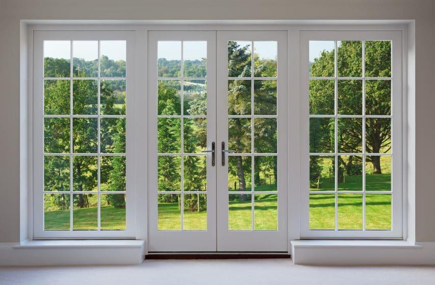 Drzwi tarasowe - obraz