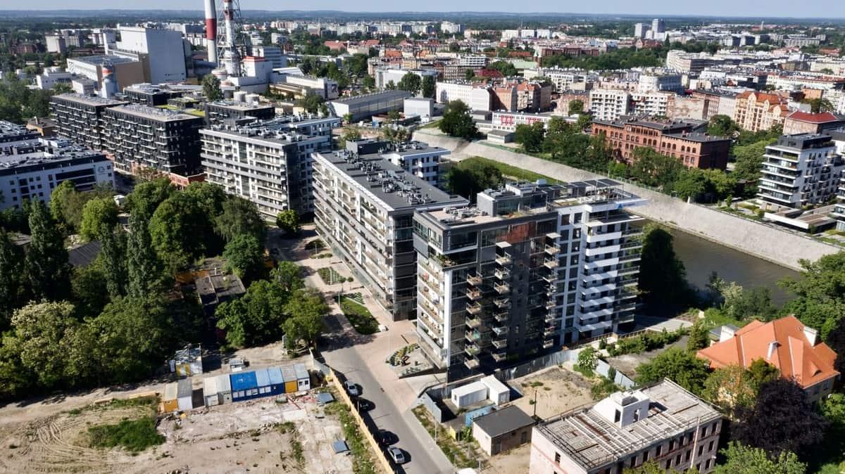 osiedle River Point Wrocław z boku
