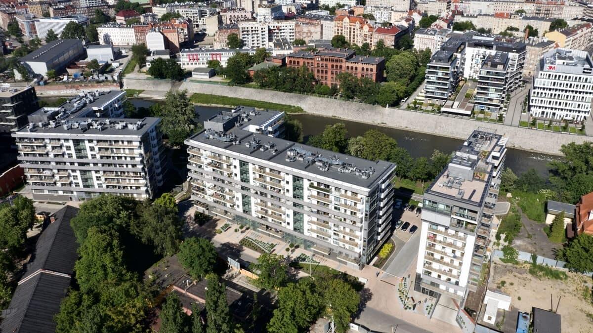 osiedle River Point Wrocław z góry