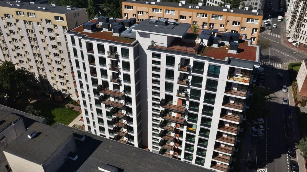 Apartamenty Sienna z lotu ptaka z prawej