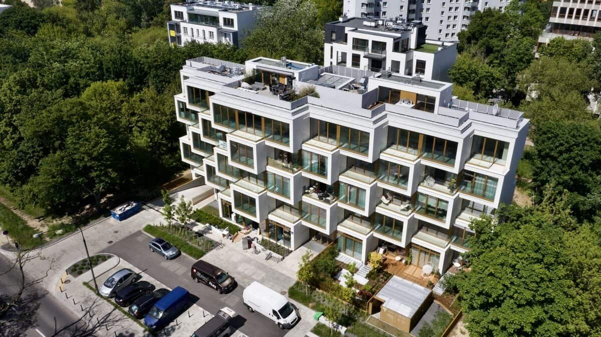 Apartamenty Potocka z lotu ptaka