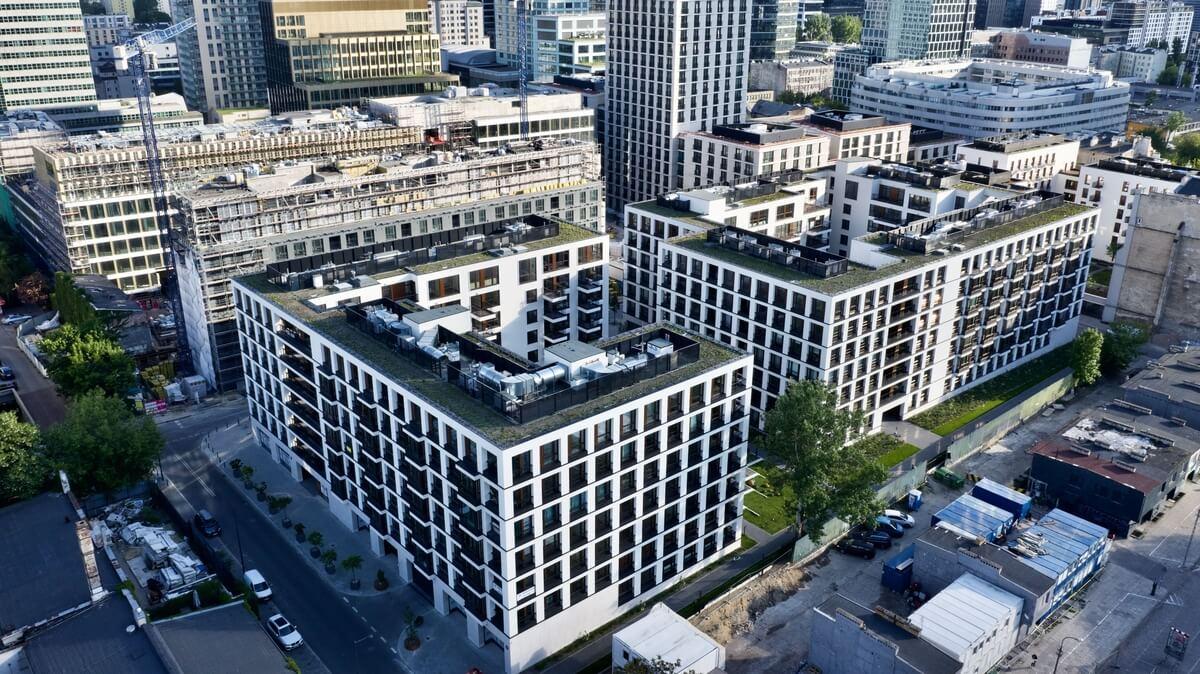 Browary Warszawskie budynki z góry