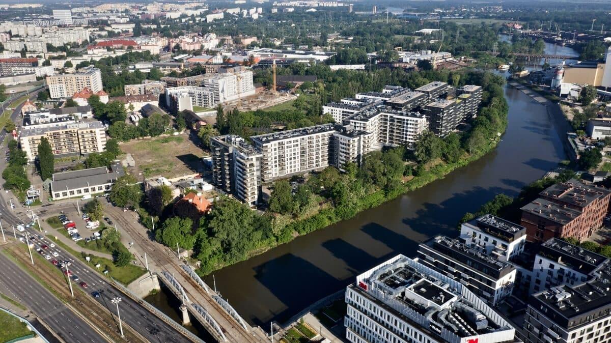 osiedle River Point Wrocław z daleka