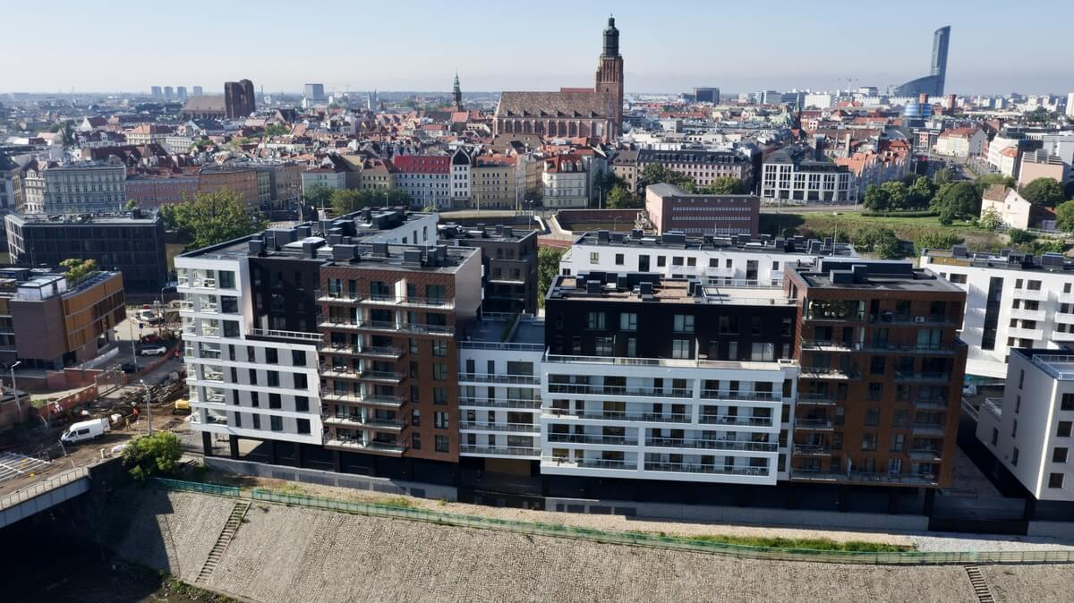 Bulwary Wrocławskie bloki z przodu