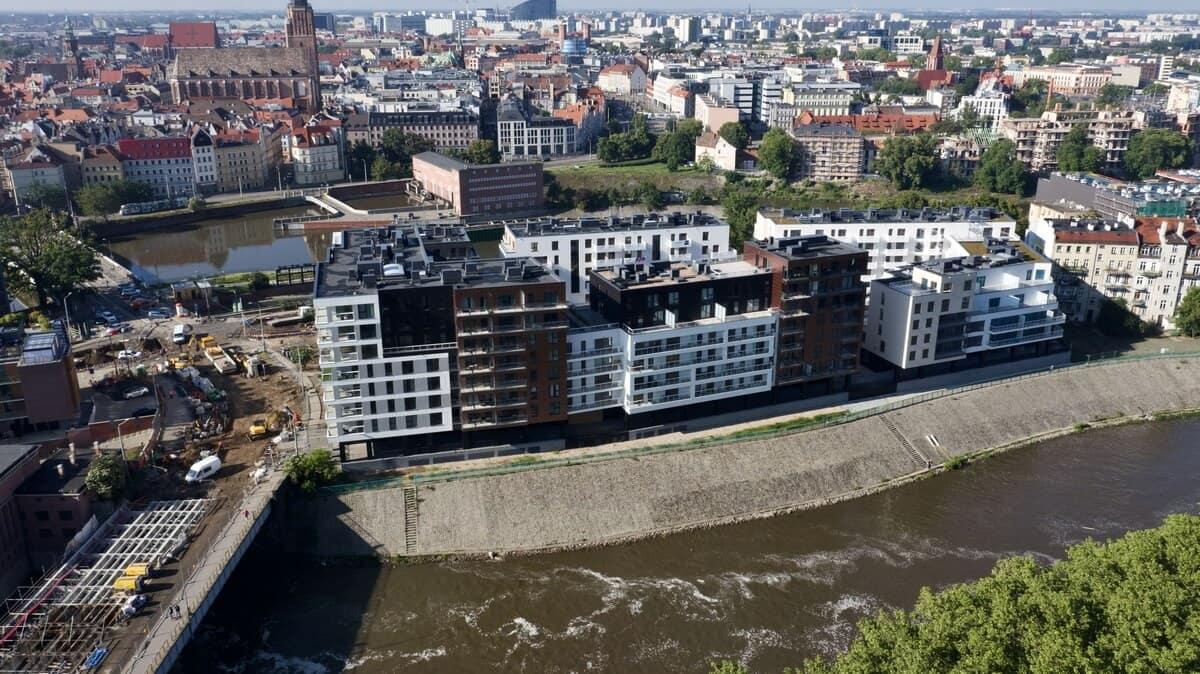 Bulwary Wrocławskie z góry